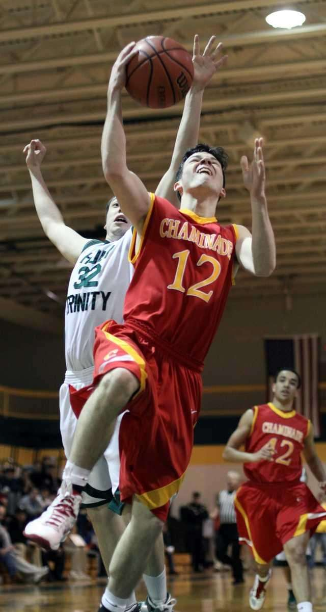 Chaminade's Kevin Sheehy goes for layup during the
