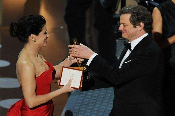 Colin Firth received the Best Actor Oscar from