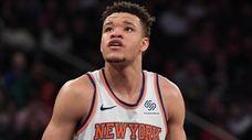 Knicks rookie Kevin Knox against the Toronto Raptors