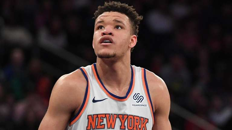 Knicks rookie Kevin Knox against the Toronto Raptors