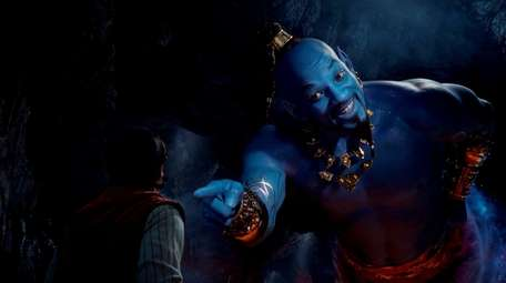 Aladdin, played by Mena Massoud, meets the larger-than-life