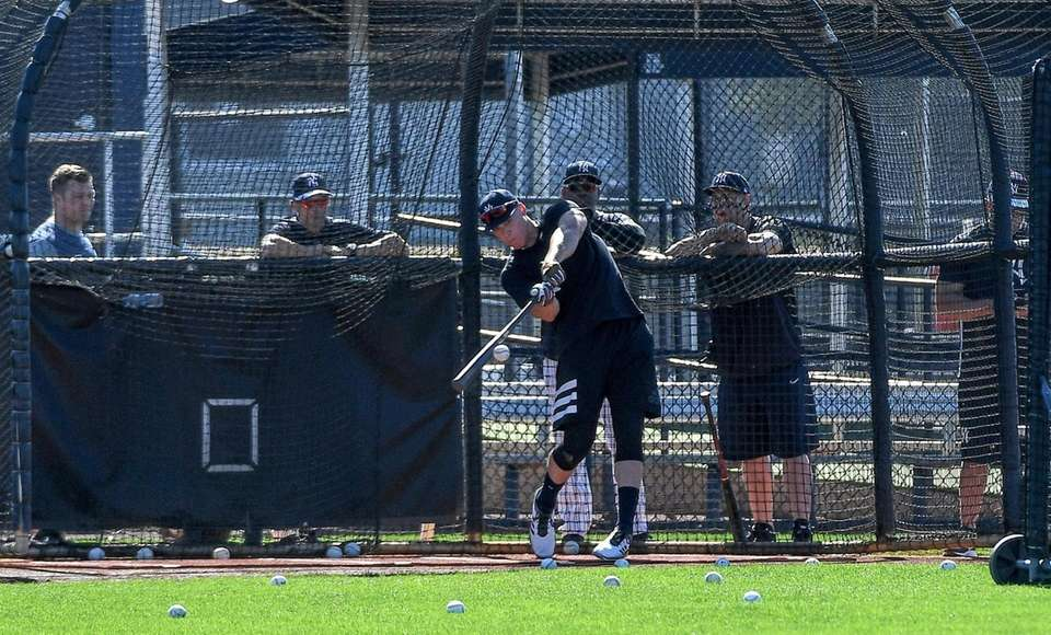 New York Yankees Aaron Judge takes batting practice