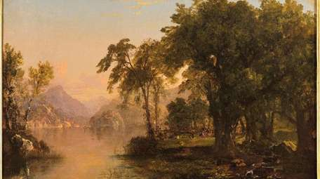 John Frederock Kensett's oil on canvas