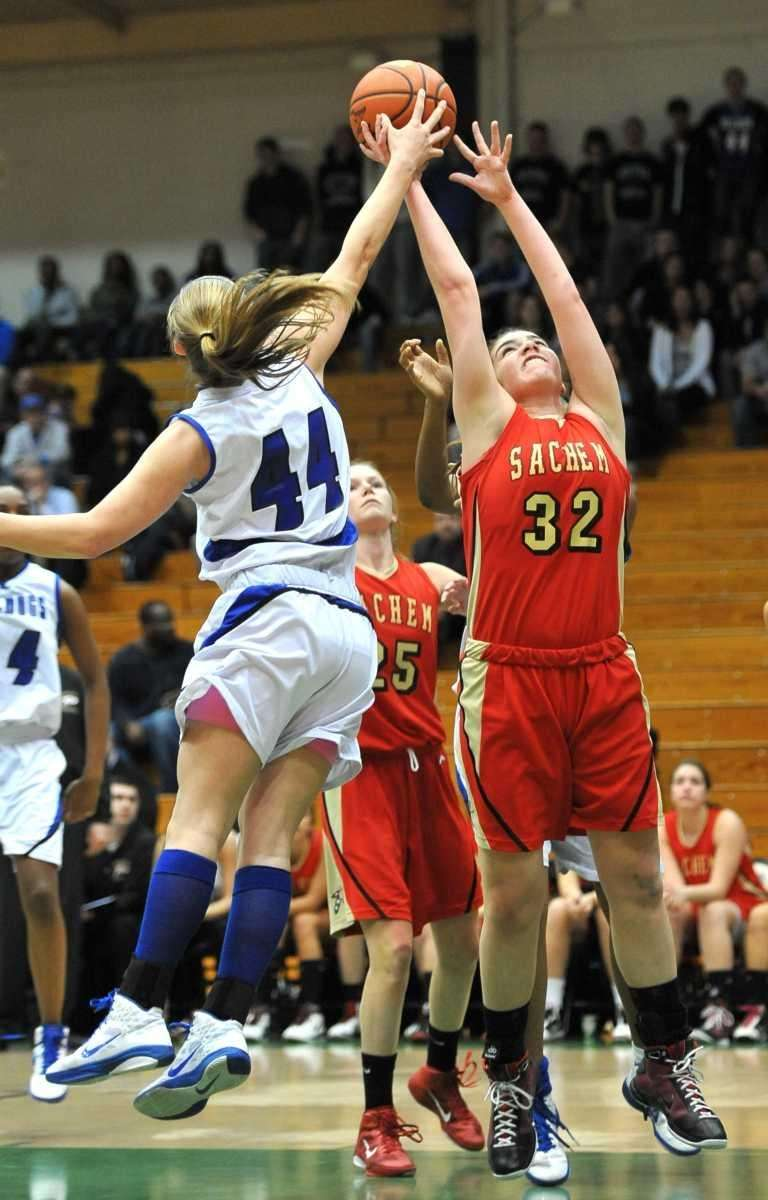 Sachem East's Sammie Drake (32) blocks a pass