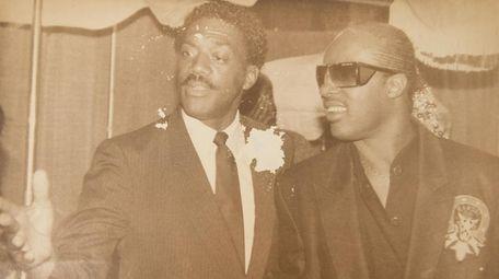 Ken Webb with Stevie Wonder in1979.