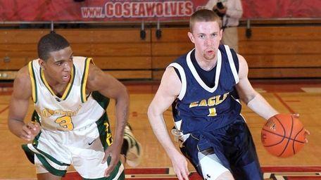 West Babylon's Matt Sullivan brings the ball upcourt