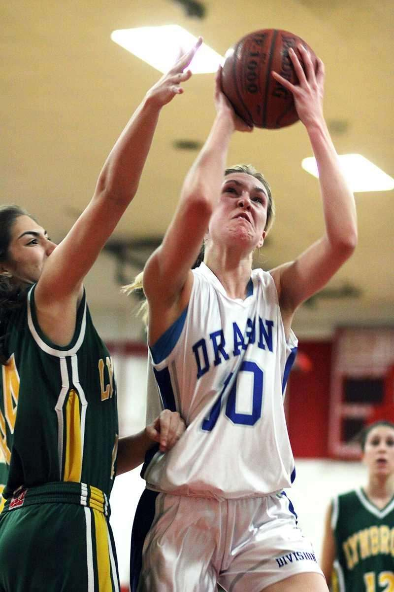 Division's Kristen Stuart with the layup during the