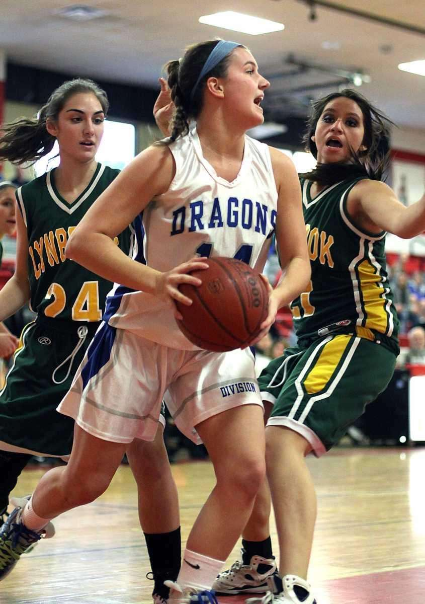 Division's Christina Rea looks to pass during the