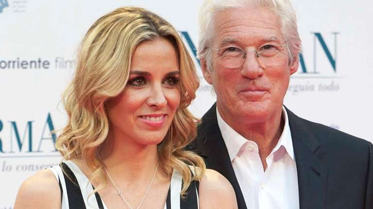 Alejandra Silva and Richard Gere attend the