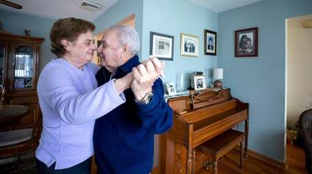 Walda and Vincent Corazon, married 65 years, dance
