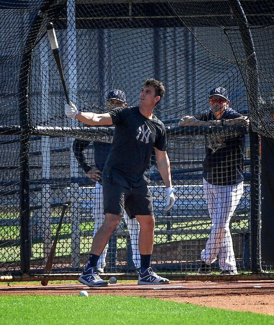 New York Yankees Greg Bird takes batting practice