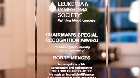 This May 2018 award was given posthumously to