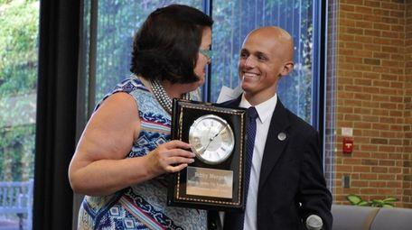 Susan McDonald of Garden City presents Bobby Menges