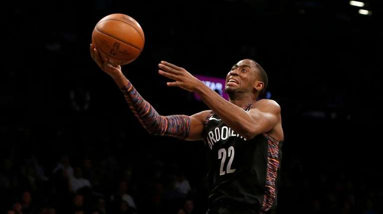 Caris LeVert of the Nets goes to the