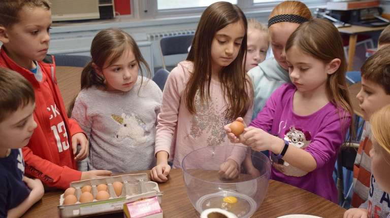 Second-graders at Norwood Avenue Elementary School in Northport