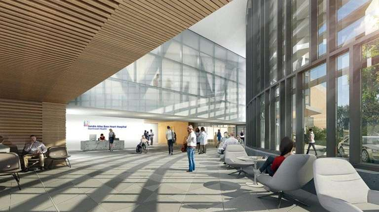 A rendering shows North Shore University Hospital's proposed