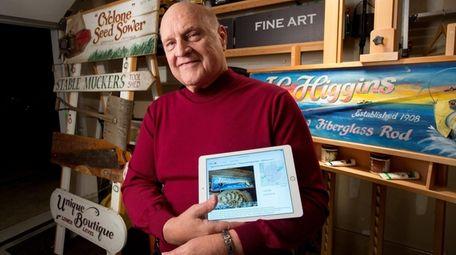 Paul Vetrano, 70, in his studio in Glen