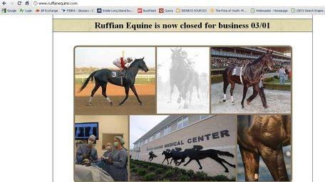 Ruffian Equine Medical Center shutdown