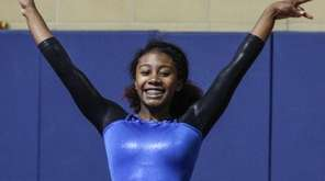 Valley Stream District gymnast Kaylei McDonald completes her