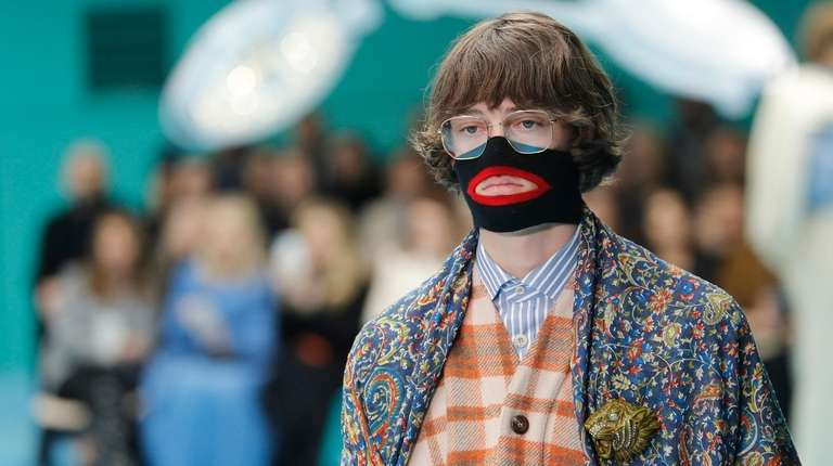 A model at the Gucci Fall/Winter 2018-2019 collection