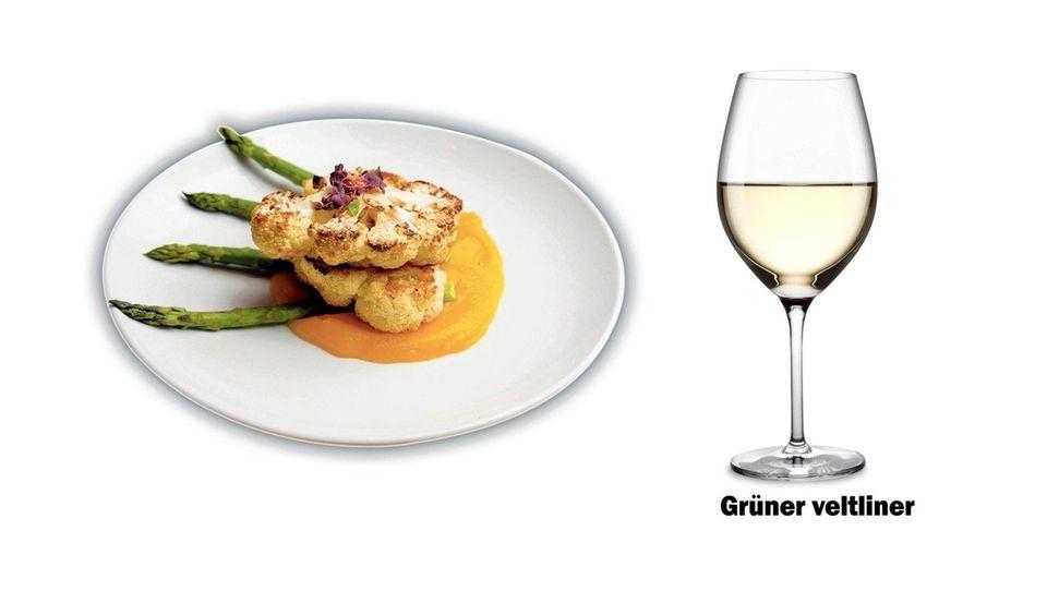 Cauliflower steak wine pairing