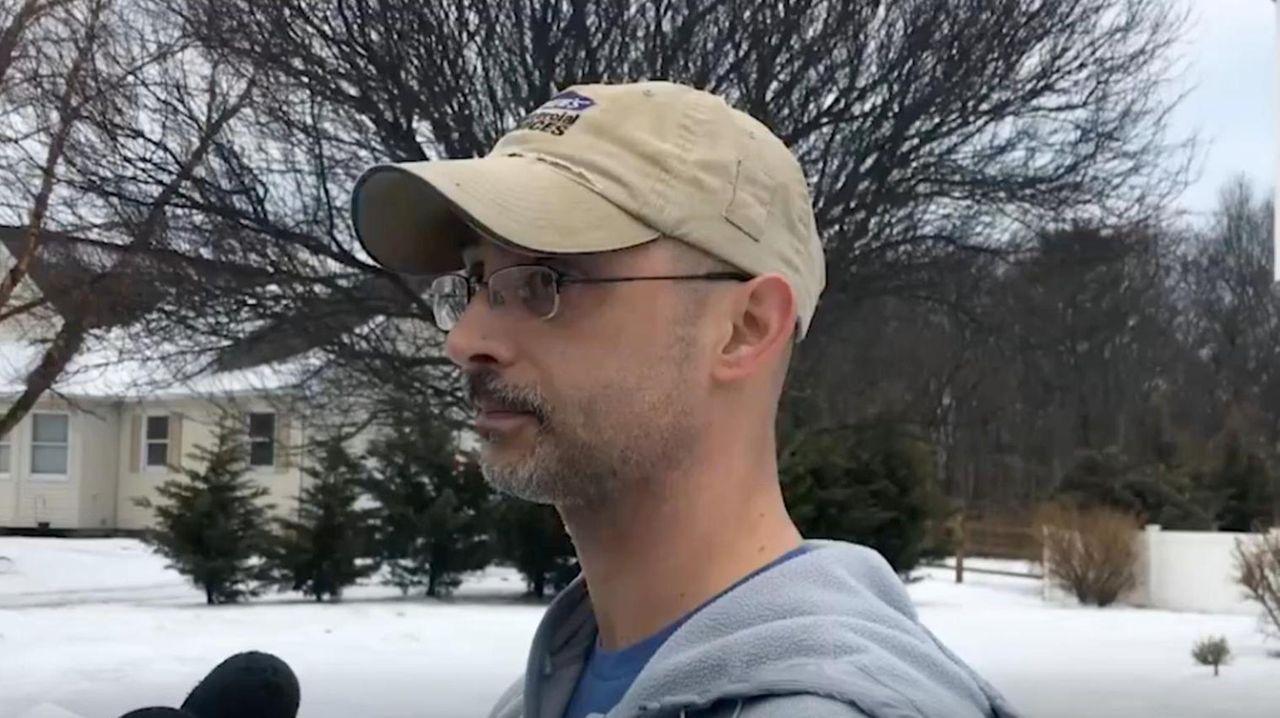 Dave Mosciatti, 42, of Calverton, talks about his