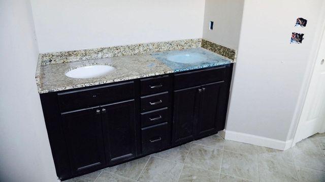 Having a taller bathroom countertop will make it