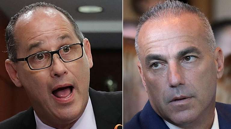 Fred Guttenberg, left, and Andrew Pollack want to