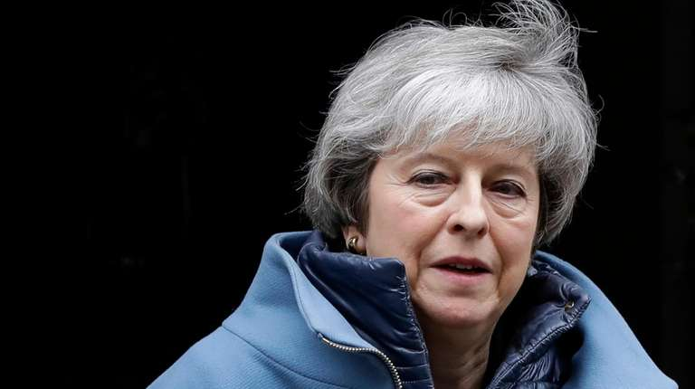 Britain's Prime Minister Theresa May leaves 10 Downing