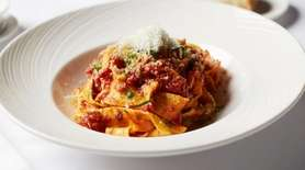 Pappardelle Bolognese is served at Prime 1024 in