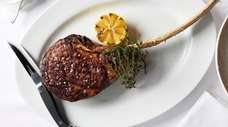 """The 40-ounce """"tomahawk"""" rib steak for two heads"""