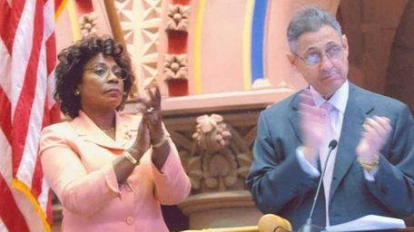 Assemb. Earlene Hooper with Assembly Speaker Sheldon Silver