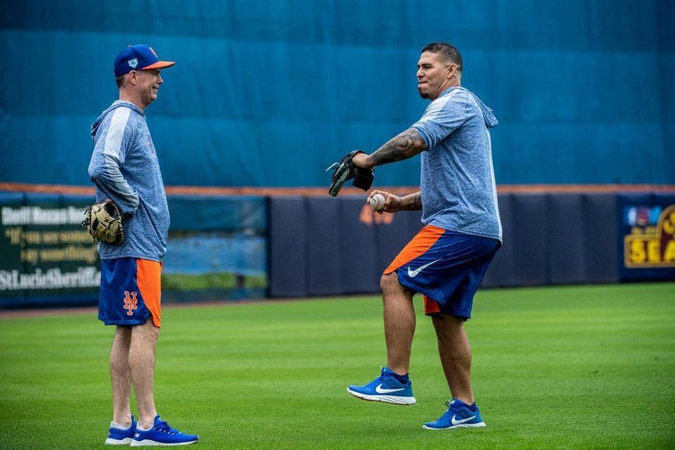 New York Mets first base coach Glenn Sherlock