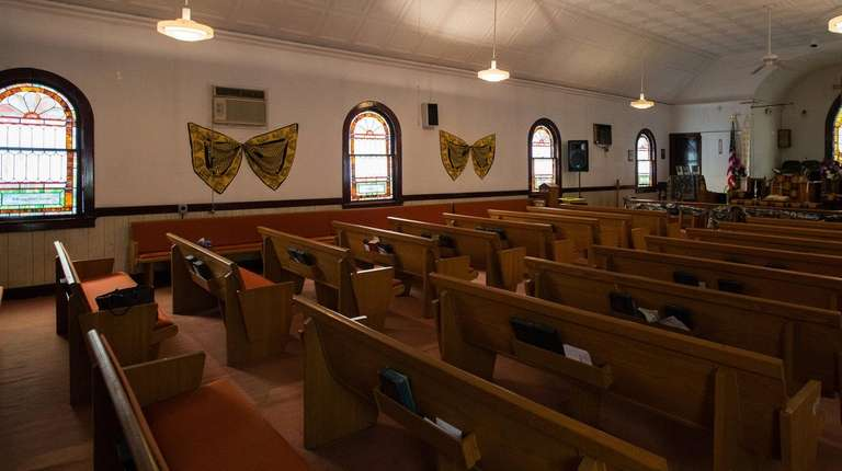The interior of Bethel A.M.E. Church in Huntington