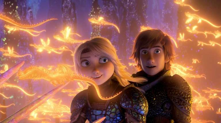 America Ferrera voices Astrid and Jay Baruchel voices