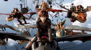 Hiccup, voiced by Jay Baruchel, and his Night