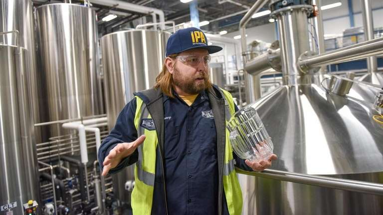 Brewmaster Mike Stoneburg, at the new Blue Point