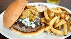 The signature burger for Blue Point Brewing Company's