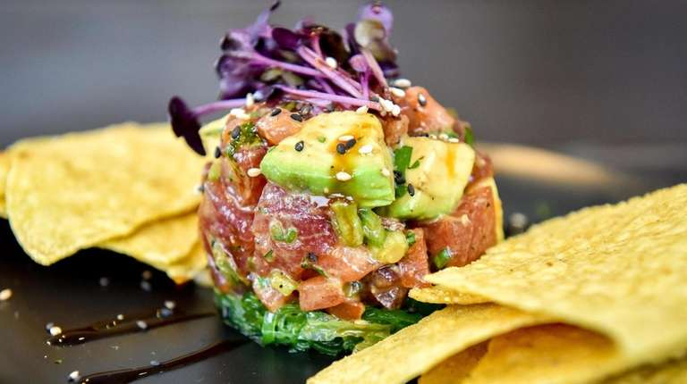 Yellowfin tuna poke by chef Charley Sinden at