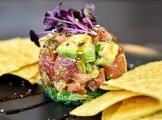 Yellowfin tuna poke by chef Charley Sinden at