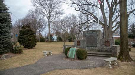 The memorial at the Village Green in East