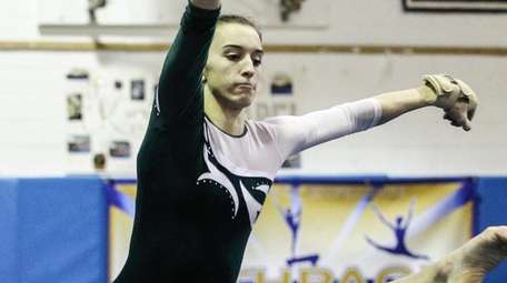 Joanna Signorile of Carle Place/Wheatley competes in the