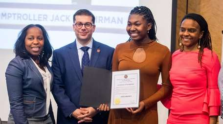 Asha Brown is honored by North Hempstead Councilwoman