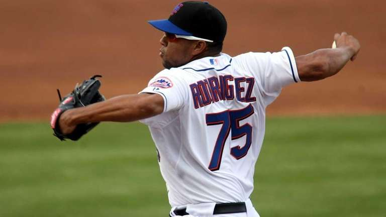 Pitcher Francisco Rodriguez #75 of the New York