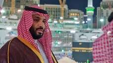 Crown Prince Mohammed bin Salman is seen in