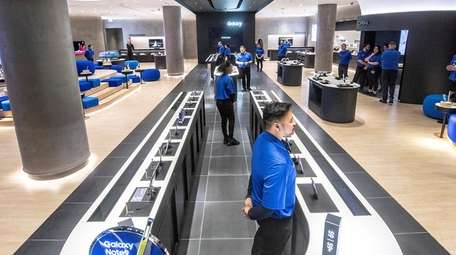 A view of Samsung on Thursday on the