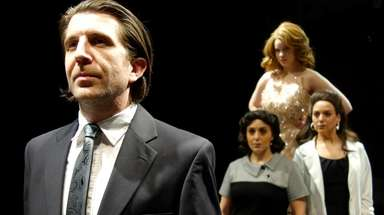 Brian Gill plays Guido, Abigail McCabe, top, is