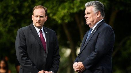 Representatives Lee Zeldin and Peter King.