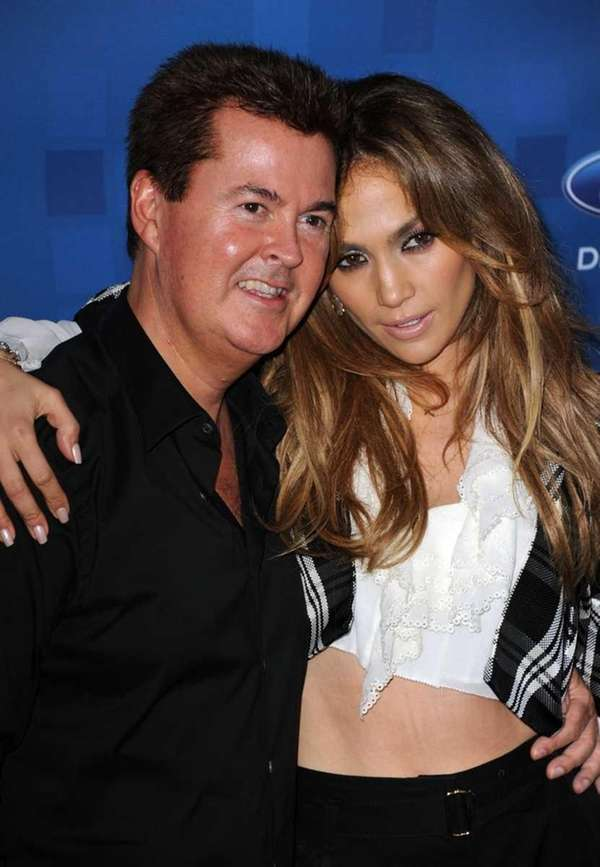 "Producer Simon Fuller and ""American Idol"" judge Jennifer"