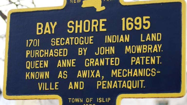 The area now known as Bay Shore was